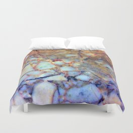 marble effect 007 (blue) Duvet Cover