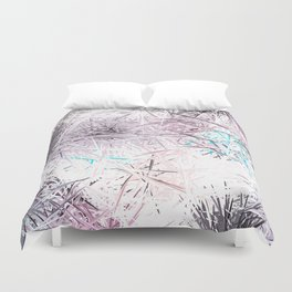 Decorative Pastel Lavender Sketch Abstract Duvet Cover