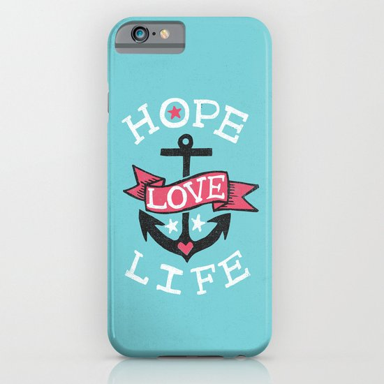 HOPE LOVE LIFE - ANCHOR iPhone & iPod Case