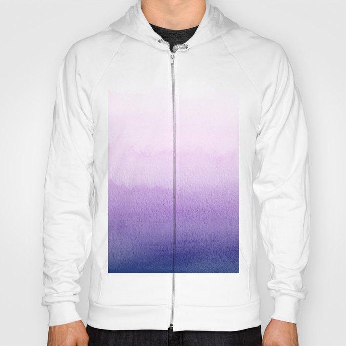 Purple Watercolor Design Hoody