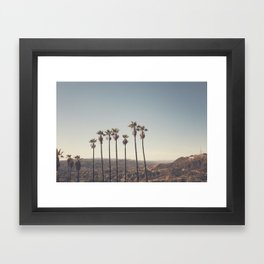 Hollywood Hills Framed Art Print