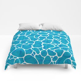The Great Sea: Graphic Ocean Water Pattern Comforters