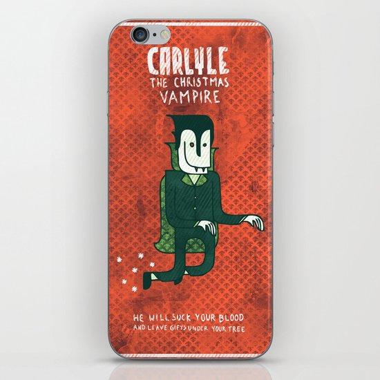 The Christmas Vampire iPhone Skin
