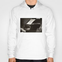 music notes Hoodies featuring Grand Piano and Music Notes by cinema4design