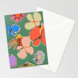 VINTAGE GARDEN GREEN Stationery Cards