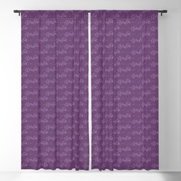 Custom Hand Lettering Amelia Name Design Blackout Curtain