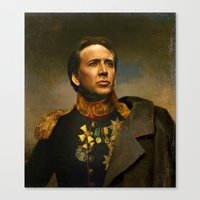 replaceface Canvas Prints featuring Nicolas Cage - replaceface by replaceface