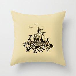 Viking ship 2 Throw Pillow