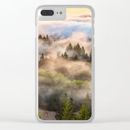 Coastal Fog Over Mount Tamalpais Clear iPhone Case