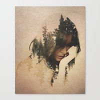 lost Canvas Prints featuring Lost In Thought by Davies Babies