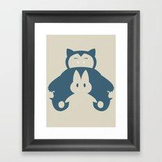 Pocket Monster 143 and 446 Framed Art Print