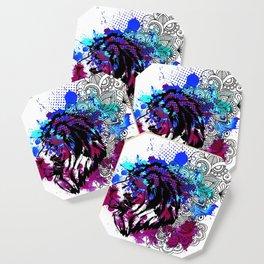 Purple Lion Spirit Coaster