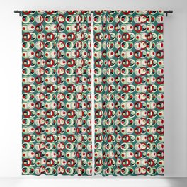Mirrored Moon Phases - Wintergreen Pattern Blackout Curtain