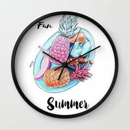 Fun summer Wall Clock
