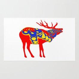 Graphic Dala Elk Rug