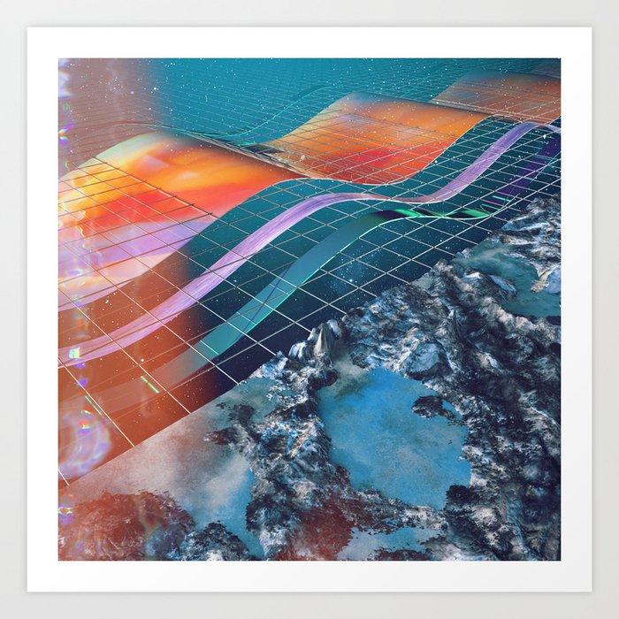 Broken Dimension Art Print