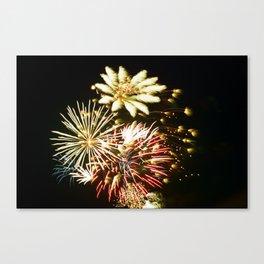 Canadian Fireworks Canvas Print