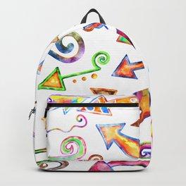 Watercolor Arrow Doodles Backpack