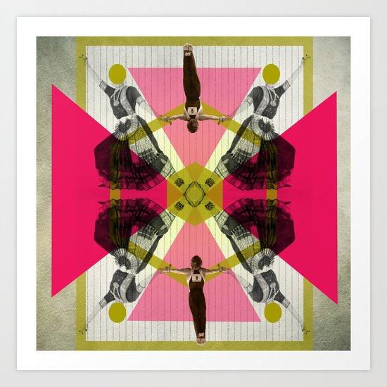 Bollywood geometrical gym Art Print