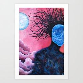 When Worlds Collide II Art Print