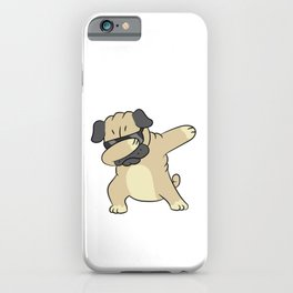 Dabbing Dog Cool Dabbing Pug iPhone Case