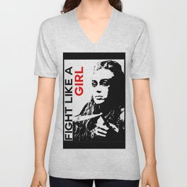Fight Like A Girl (Lexa) Unisex V-Neck