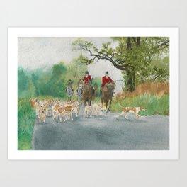 Fox Hunt 2 Art Print