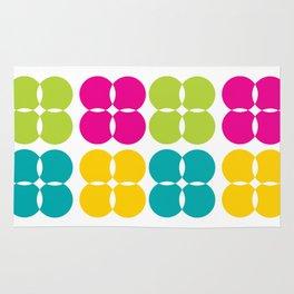 Colorful Bejeweled Circles Rug