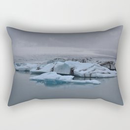 Beautiful glacial lake Jökulsárlón Rectangular Pillow