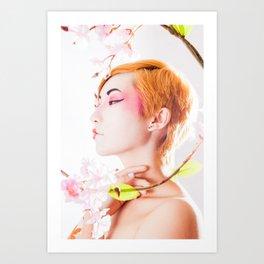 Geisha Portrait Art Print