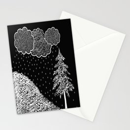 Falling Music and 100% accumulation  Stationery Cards
