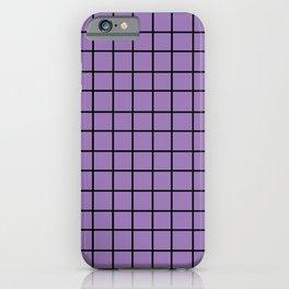Pastel Grid PurPur iPhone Case