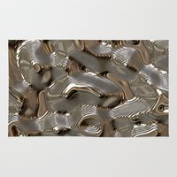 metallic Area & Throw Rugs featuring Metallic by LoRo  Art & Pictures