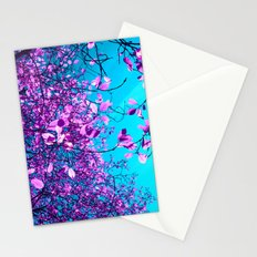 purple tree XXIII Stationery Cards