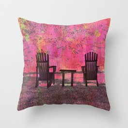 Chairs of PEI (B) Throw Pillow