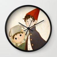 greg guillemin Wall Clocks featuring Greg & Wirt by Ferkashi