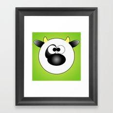 Moo Moo Cow Ball Framed Art Print