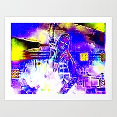 Dancer Sings Art Print