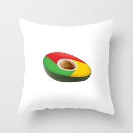 Browser Avacado Throw Pillow