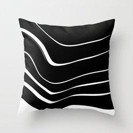 Organic No. 10 Black & White #minimalistic #design #society6 #decor #artprints Throw Pillow