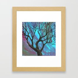 tree commotion Framed Art Print