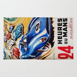 Le Mans 1956, vintage poster, Le Mans t-shirt, 24hs Le Mans Rug
