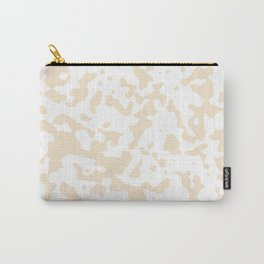Spots - White and Champagne Orange Carry-All Pouch