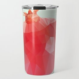Pomegranate – modern polygram illustration Travel Mug