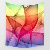 flash Wall Tapestries featuring Color Flash by gabiw Art