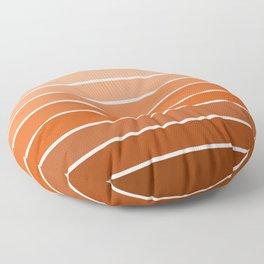 70s Stripe - ombre sunset, sun, sunset, boho, desert, rust, orange, brown, sand, terracotta Floor Pillow