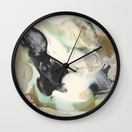 The Elements: Green and Gold (01) Wall Clock
