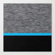 Athletic Grey and Blue Canvas Print