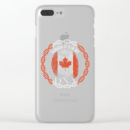 Canada Its In My DNA Clear iPhone Case
