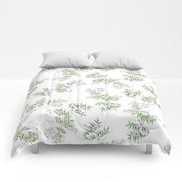 Jasmine Flower Illustration Comforters